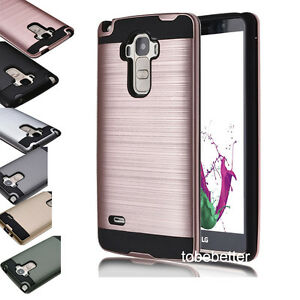 New-Hybrid-Brushed-Shockproof-Rugged-Impact-Armor-Case-Cover-Skin-For-LG-Phones