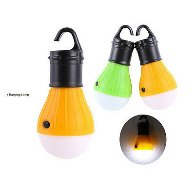Sport Hanging 3LED Camping Tent Light Bulb Fishing Lantern Lamp Bulbs Flashlight