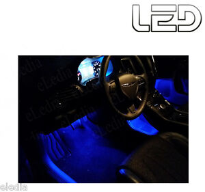 PASSAT-B6-2-Ampoules-LED-Bleu-anti-erreur-Sols-Pieds-Tapis-Blue-light-Footwell