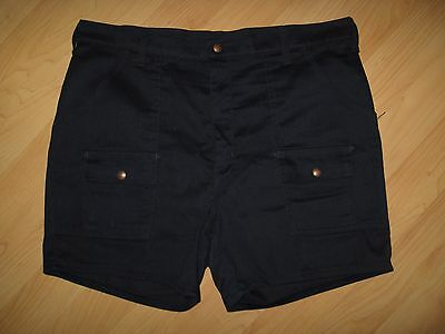 Men's 1980 Short Shorts - Vintage Activewear USA Navy Blue Cargo Shorts Size 36