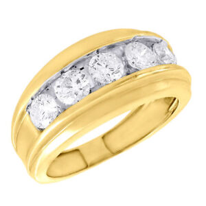 1 Carat G-h Diamond Anniversary Solitaire Bridal Ring Band Set 14k Yellow Gold Bridal & Wedding Party Jewelry Jewelry & Watches