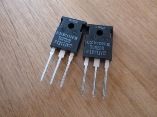 10N20 10P20 Audio Mosfet TO3P TO247 exicon plastique latéral ECX10P20R ECX10N20R
