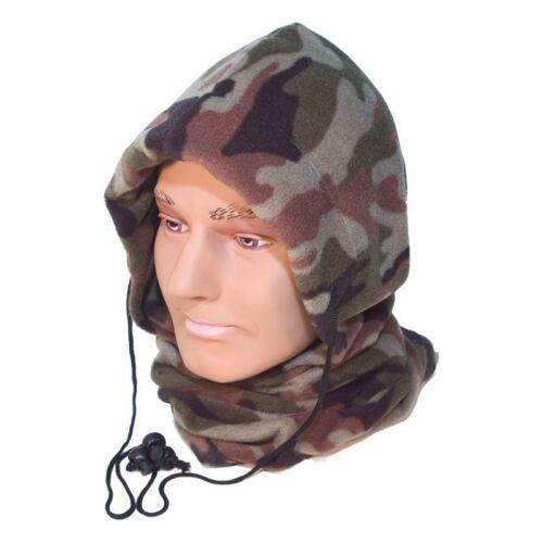 Camo Camouflage Fleece Snood Neck Warmer Balaclava