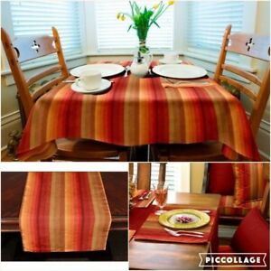 Merveilleux Image Is Loading Sunbrella Outdoor Tablecloth  Tablerunner Or Placemats ASTORIA SUNSET