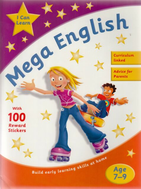 Learn English Age 7-9 - English Practice and Activity with 100 Stickers New Book