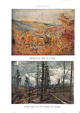 WWI Le Bois Mutilé Cote 955 Metzeval & la Vallée de la Fecht  B ILLUSTRATION