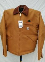 Carhartt Mens Duck Canvas Work Coat Jacket Lg Lined Usa 14806 Full Zip