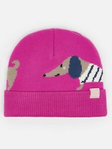 71766c12c9d Image is loading Joules-Girls-Pink-Bark-Fleece-Lined-Knitted-Character-