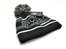5febdb9cd38 item 2 Spyder Men s Pom Beanie Hat Fleece Lined Black Grey Stripe New! NWT  -Spyder Men s Pom Beanie Hat Fleece Lined Black Grey Stripe New! NWT