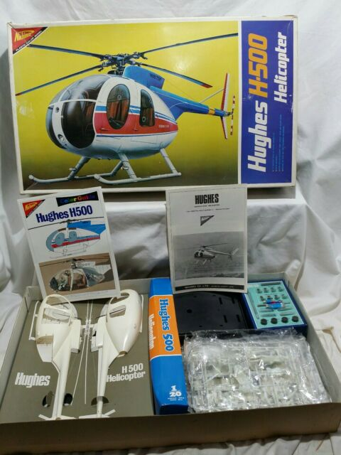 Vintage Nichimo Hughes H-500 Helicopter 1/20 Identical Scale Motorized Kit