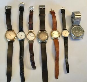 Lot-of-7-vintage-mens-womans-watch-uhr-horloge-MUTRIX-RODANIA-ERY-FELCA