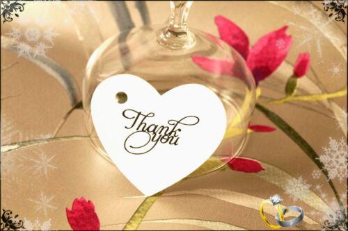20-100 mariage coeur merci faveur cadeau tags étiquettes