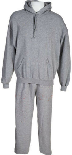 Heavy Weight Hooded Fleece SweatSuit Top /& Bottom Set Ash Gray