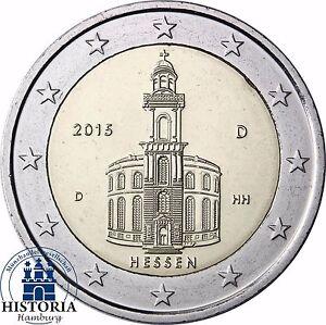 2 Euro Paulskirche Bundesland Hessen Deutschland 2015 Stempelglanz