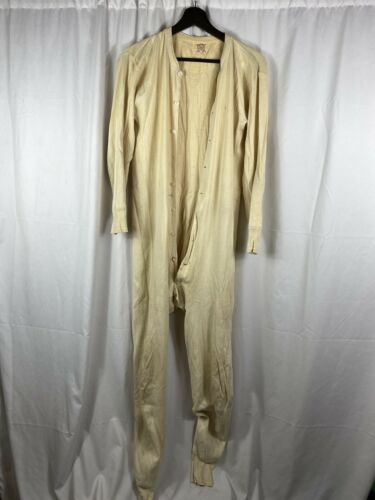 Vintage 1940s Knit on Cooper Thermal Longjohns