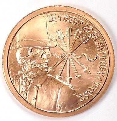 Pure Copper Bullion Round!! Debt Slave 1oz