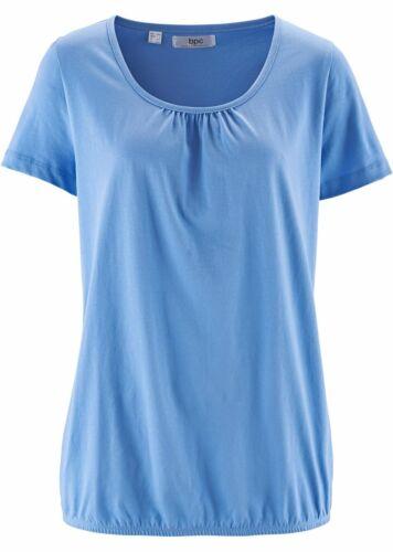 Damen Baumwoll Kurzarm-Shirt 250475 in Mittelblau 40//42