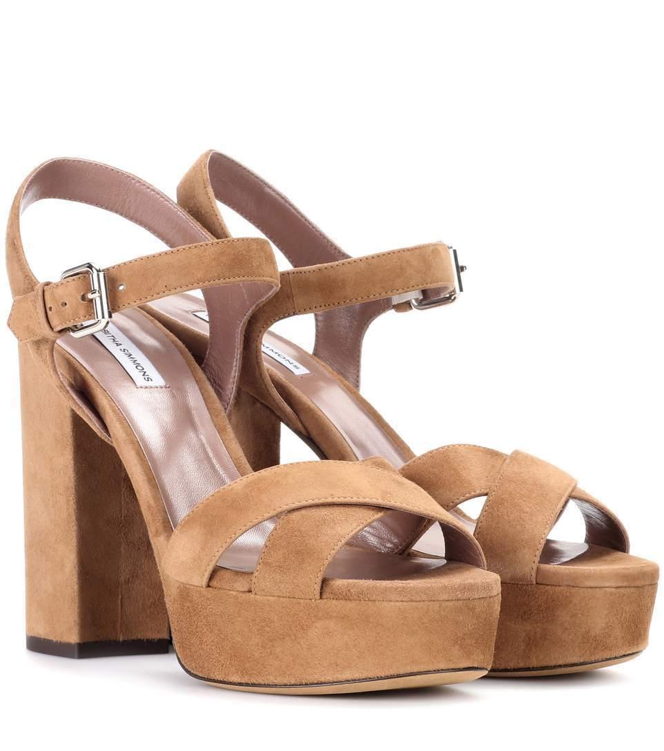 edizione limitata Tabitha Simmons Donna    Debbie Suede Plateau Platform Sandals Sand Suede  695  goditi il 50% di sconto