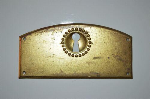 Chapetón De Latón Antiguo Original prensado placa muebles de ojo de cerradura pecho KP15