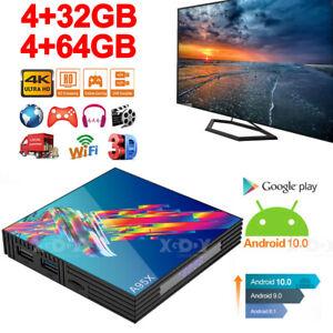 US 4+64G Android 10.0 Quad-core TV BOX 4K 2.4G 5G Wifi HDMI Smart Media Player
