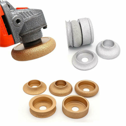 Abrasive Grinding Wheel Brazed Diamond Vacuum Disc Concave Convex 75mm//73mm New