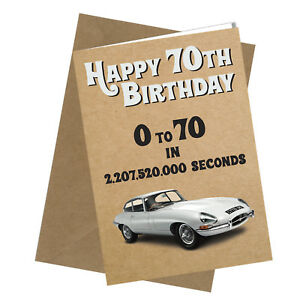 Image Is Loading 326 70th Birthday Card Greetings E Type