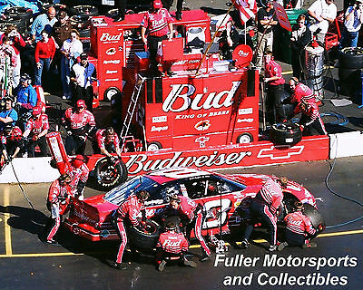 DALE EARNHARDT JR PIT STOP #8 2001 NASCAR WINSTON CUP 8X10 PHOTO MARTINSVILLE