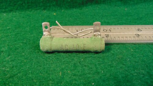 1 CLAROSTAT GREENOHM AC-10-F 11K OHM 10 WATT FIXED  RESISTOR NOS