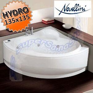 3s vasca da bagno idromassaggio novellini una angolare rotonda 135 x 135 cm ebay - Installare una vasca da bagno ...