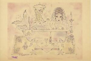 MERMAID-CORSET-CANDLELIGHT-BATH-CLAW-FOOT-TUB-PRINT-ON-ANTIQUE-VELLUM-PAPER