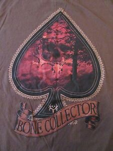 96881c49be7cb Bone Collector Hunting Deer Skull Ace Spades S/S Cotton T Shirt Size ...
