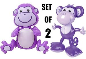 """24/"""" Purple Sitting Monkey Inflatable Baby Inflate Blow Up Toy Party Decoration"""