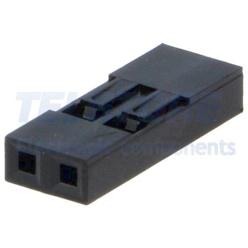 20pcs  Spina con pioli NSR//NDR femmina PIN 2 senza contatti 2,54mm TELSTORE