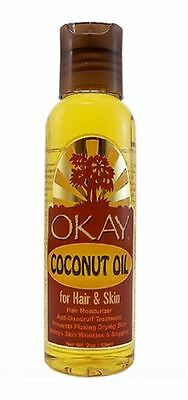 Okay Coconut Oil for Hair - Skin, 2 oz