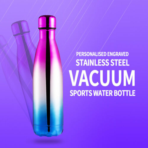 Personalised Water Bottle Insulated Vacuum Flask School Thank You Teacher Gift