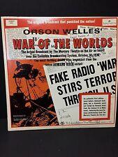 ORSON WELLES: The War Of The Worlds. Longines Symphonette 4001