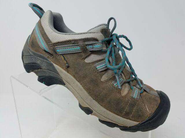 ac9a728351e Keen Targhee Womens Hiking Shoe Size 7 Brown Leather Waterproof Shoes