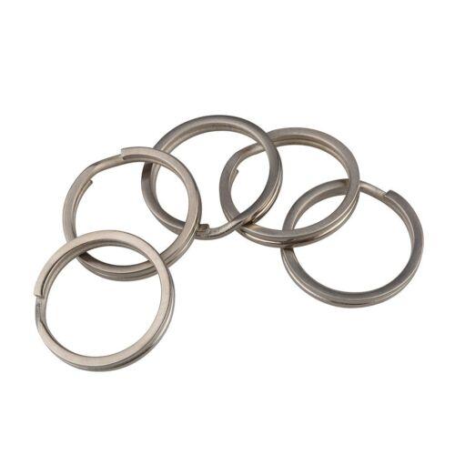 TI-EDC 5 pcs Size S Titanium Keychain Key Ring Split Ring