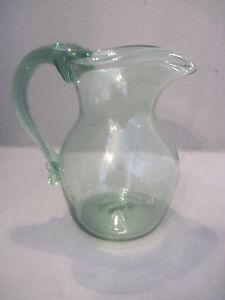 Art Glass Jamestown Pitcher With Heart Shaped Spout Pottery & Glass