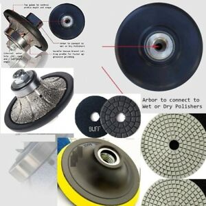 """3//16/"""" Roundover 3//4/"""" Ogee Bullnose Router Polishing Pad Granite concrete marble"""