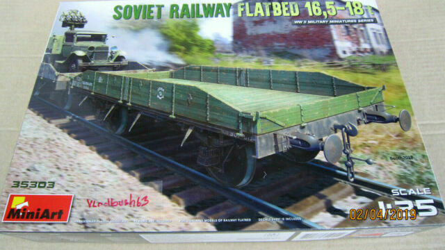MINIART 35303 WWII Soviet Railway Flatbed 16,5-18t in 1:35