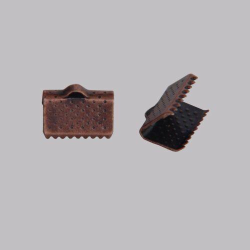 40 EMBOUTS PINCE ATTACHE RUBAN A GRIFFES 10x7mm COULEUR AU CHOIX CREATION BIJOUX