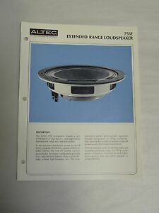 Vintage-Original-Altec-755E-Extended-Range-Loudspeaker-Specification-Sheet-A3