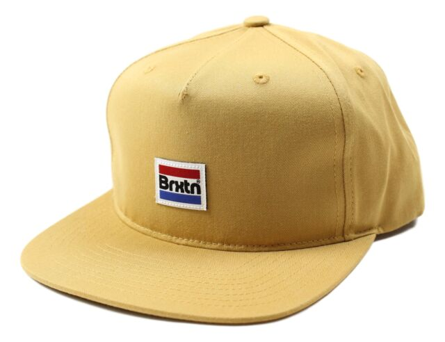 715b73dd899 Brixton Mens Nobel Mp Snapback Hat Copper Size One Size New