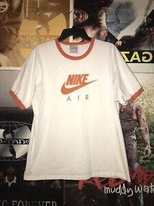 Vintage-Nike-Air-Ringer-Shirt-White-Orange-Sz-L-Jordan-Swoosh-Supreme-VTG-Max