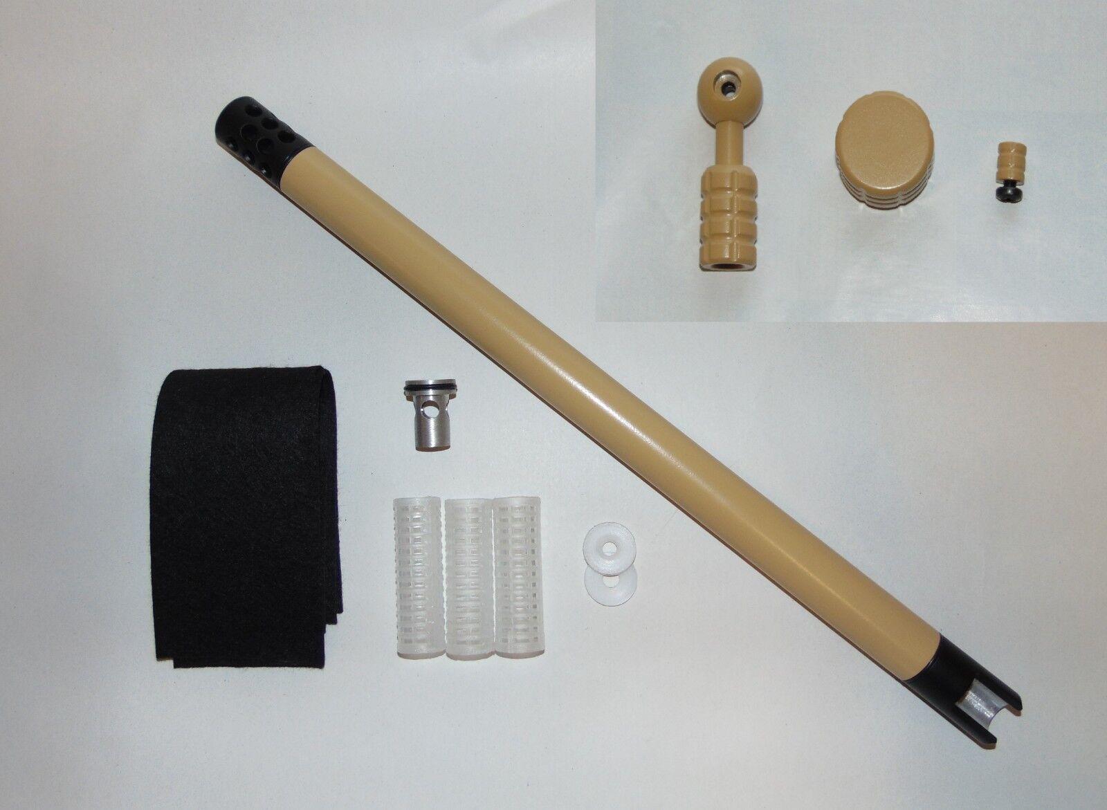 Kit de cubierta Arena Y Negro + Perno, Tapón y seguridad para caber BSA precarga rifles