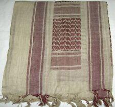 SHEMAGH ARAB SCARF KEFFIYEH FASHION SCARF 100% Cotton Khaki & Brown