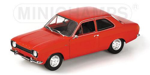 1 18 Scale Ford Escort Mk1   1971  Red     original Minichamps issue