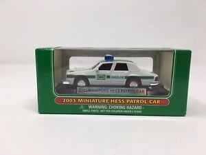 New 2003 Mini Miniature Hess PATROL COP CAR Toy MIB Amerada Hess truck 6TH