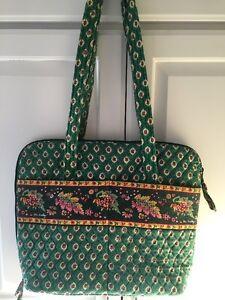 Vera-Bradley-Retired-Rare-110-Bag-in-Greenfield-Pattern-Excellent